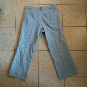 80s Vintage Levi's White Tag Gray Pants 34x26 hem